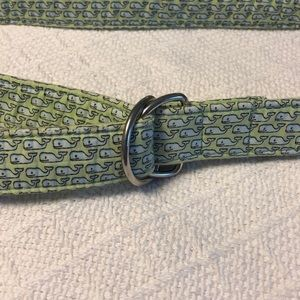 Blue and green vineyard vines whale belt